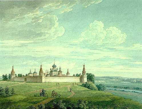 И. Лавров. Вид Симонова монастыря View of monastery of St Simon by I. Lavrov