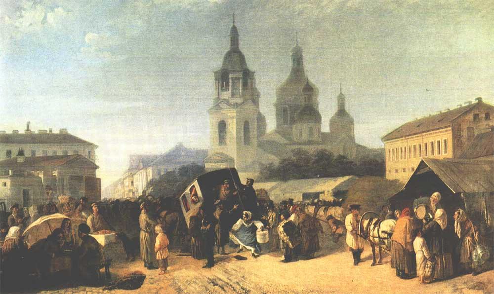 А.М.Волков. Сенная площадь Haymarket square by Adrian M. Volkov
